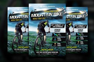 Mountain Bike Flyer Template