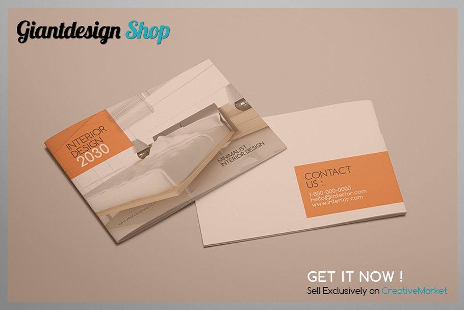 A5 Interior Design Brochure Catalog2 Brochure Templates