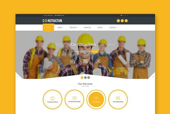 Construction Company HTML Template