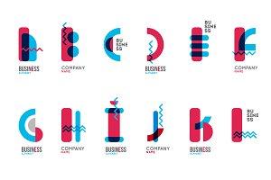 Alphabet logo pack (26 logo)