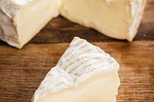 camembert slice closeup