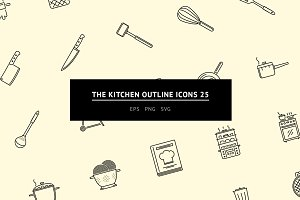 The Kitchen Outline Icons 25