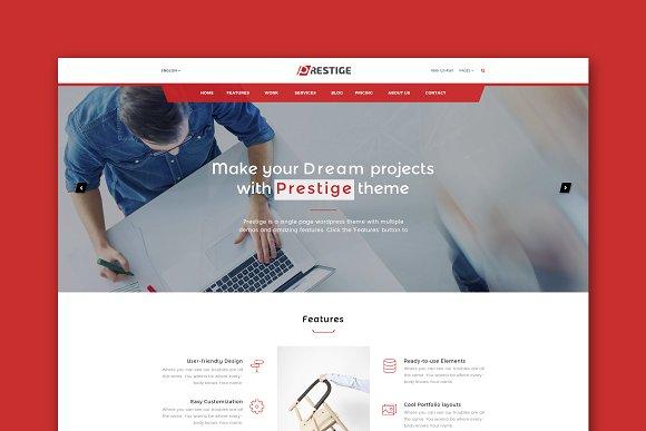 Prestige Single Page HTML Template