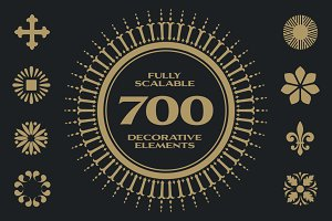 700 Decorative Elements (Vector)