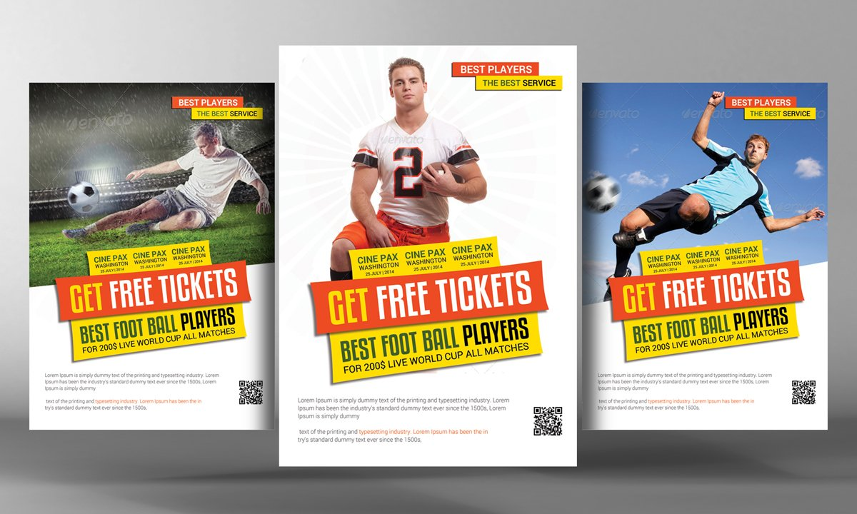 big game football flyer template flyer templates on creative market
