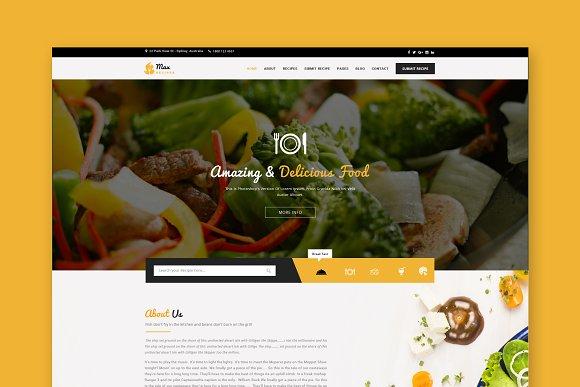 Max Recipes HTML Template