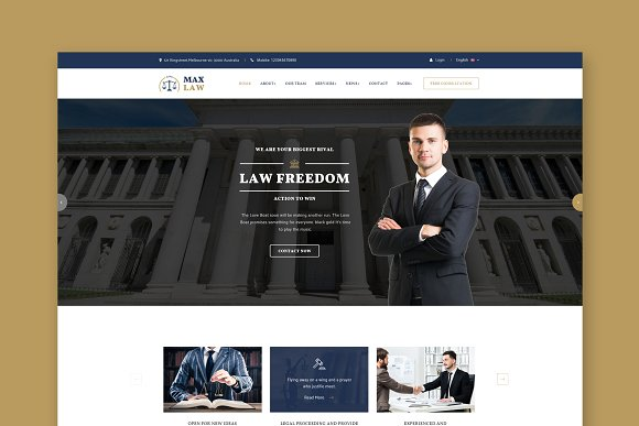 Max Law HTML Template