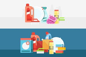 Detergents and cleaning pack