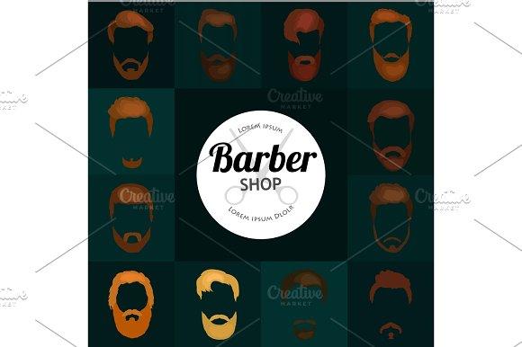 Barber Shop Or Hairdresser Background Set With Hairdressing Scissors Shaving Brush Razor Comb For Man Salon Vector Illustration