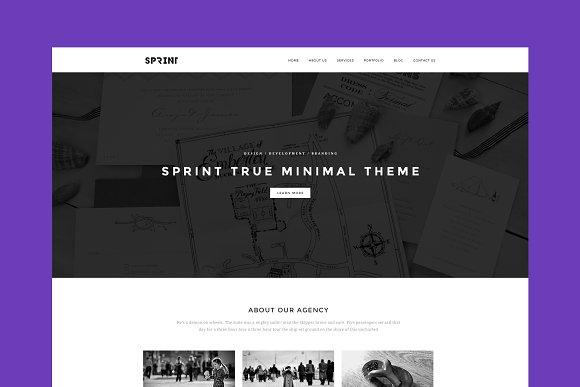 Sprint Minimal WordPress Theme