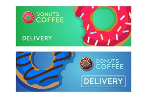 8 Donuts coffee banners