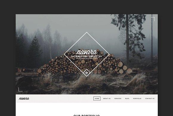 Navara Single Page WordPress Theme