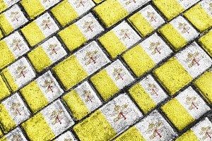 Vatican Flag Urban Grunge Pattern
