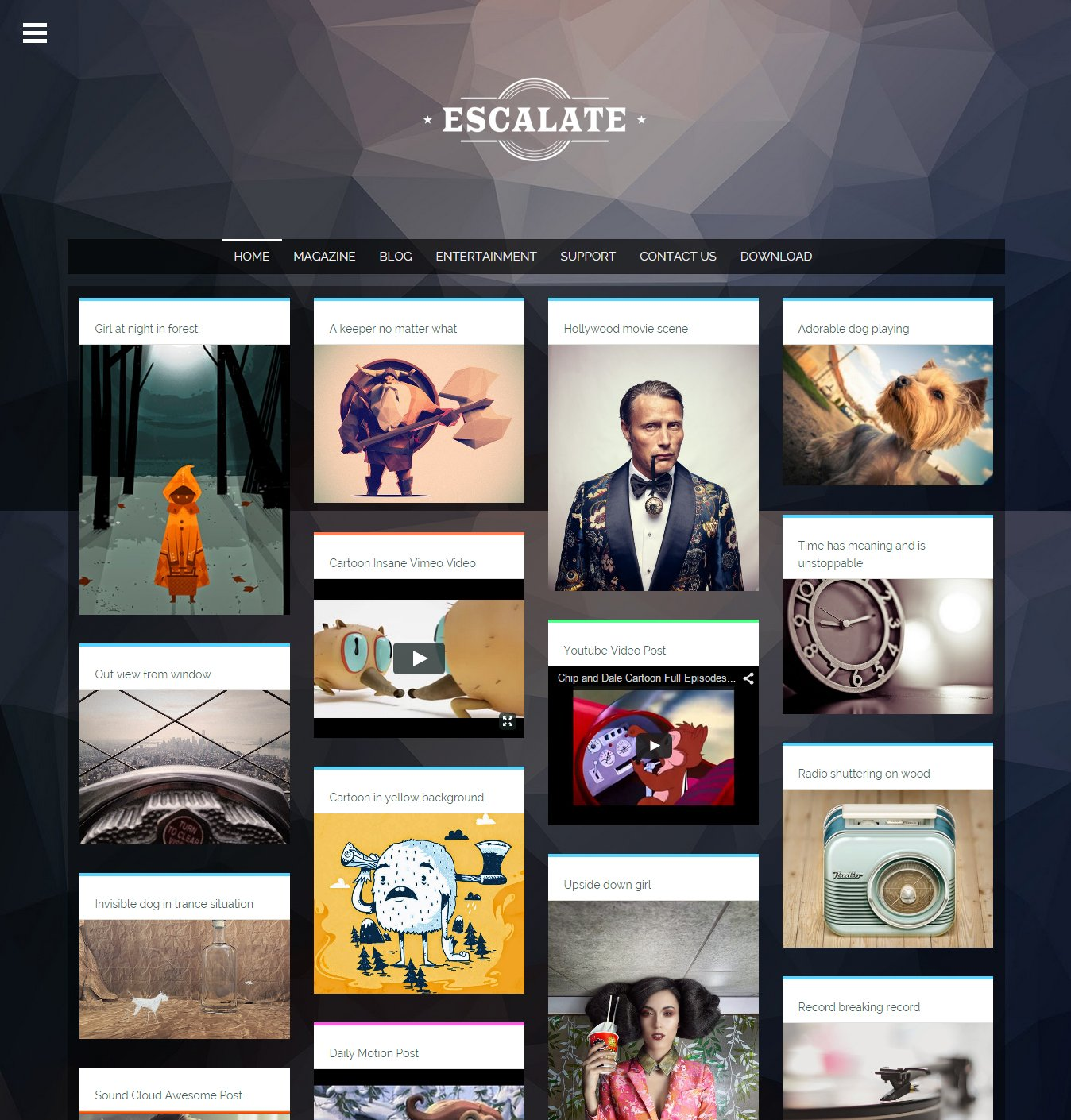 Escalate creative blogger template templates creative market wajeb Image collections