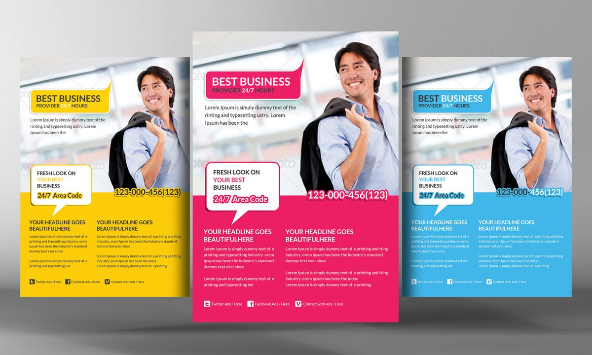 modern corporate business flyer flyer templates on creative market