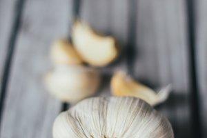 Healthy garlic