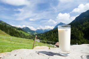 Having A Glass Of Milk At The Mountain's Top