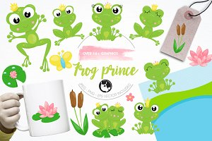 Frog prince illustration pack