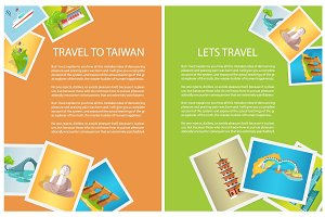 Two Vertical Cards Travel to Taiwan and Lets Go