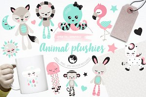 Animal plushies illustration pack