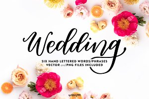Hand Lettered Wedding Phrase Set