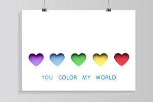 You color my world.