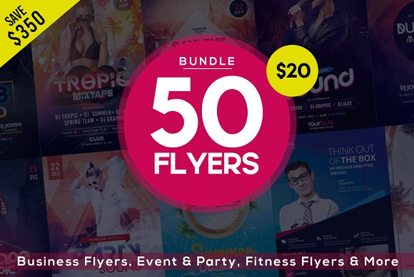 BUNDLE 50 PSD FLYERS TEMPLATES