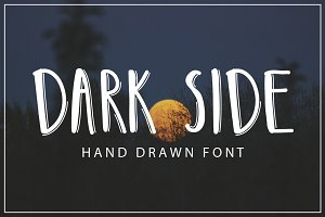 DARK SIDE - hand drawn font
