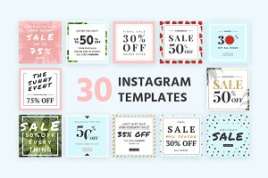 30 Instagram Templates