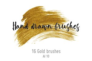 Gold metallic brushes