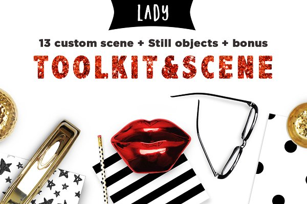 Toolkit Business Lady Mockups