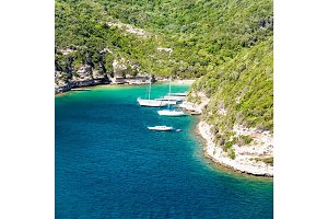 Yachts In A Small Bay