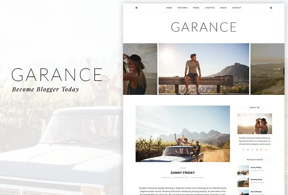 Garance A WordPress Blog Theme