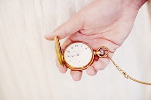Hipster vintage pocket watch