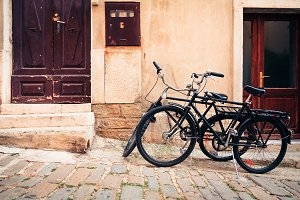 Bicycles In The Streets Of Piran