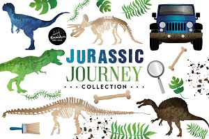 Jurassic Journey Graphics & Patterns