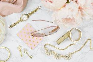 Pink Marble fashion desktop photo