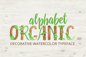 Organic Watercolor Alphabet