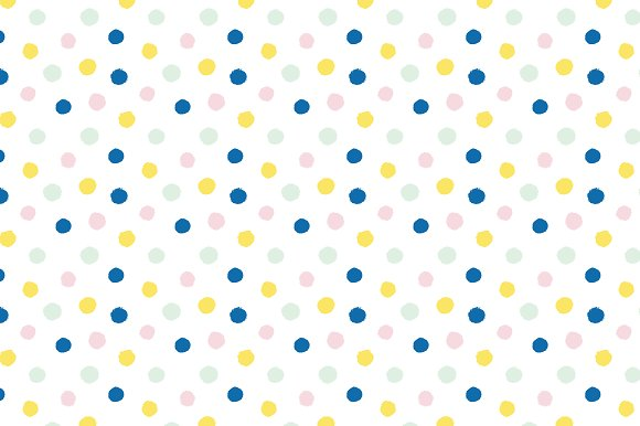 Brush Dots Vector Pattern