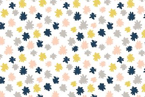 Sketch Poms Vector Pattern