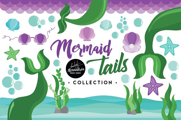 Mermaid Tails Graphics Patterns