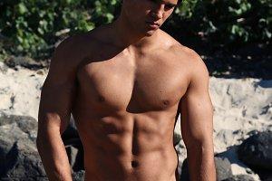 Fit man shirtless