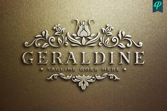 Geraldine Luxury Feminine Logo