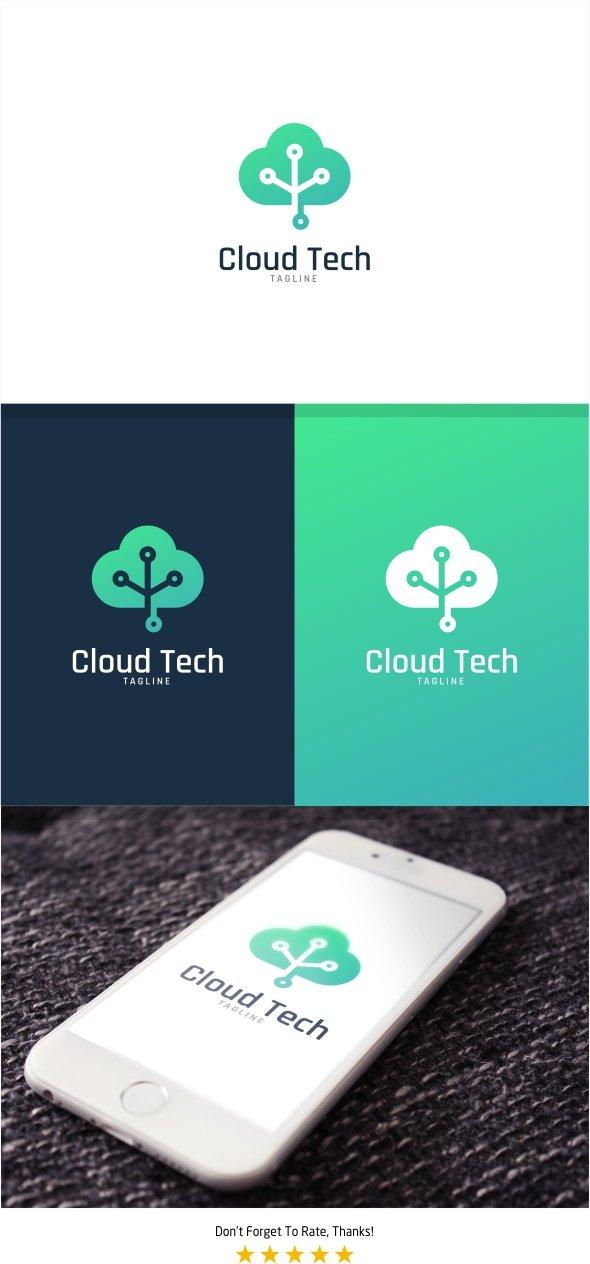 Cloud Tech Logo Logo Templates Creative Market