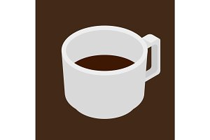 Espresso coffee cup vector isometric icon