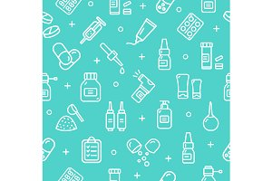 Pills Medical Pattern Background