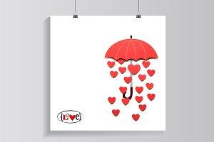 Raining love.