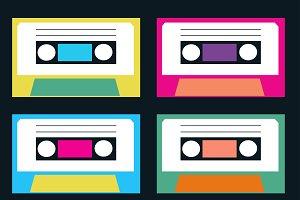 Vintage audio tape and LP set