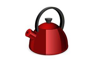 Red tea kettler