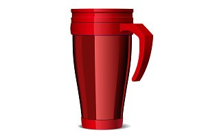 Red Metal travel thermo cup